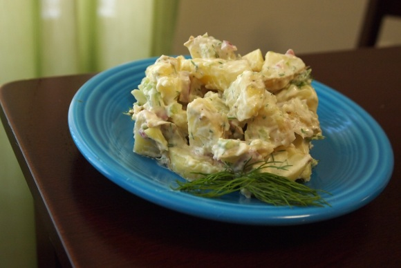 Creamy Dill Potato Salad. Via Peta.