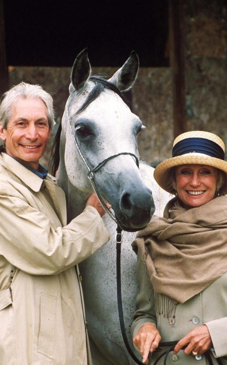Charlie Watts and his wife Shirley at the National Arab Horse Society in Malvern in 1998 CREDIT: JEREMY WILLIAMS/REX/SHUTTERSTOCK