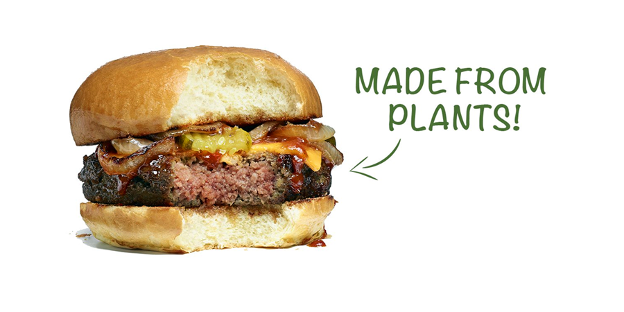 Impossible Burger. Made with Plants.