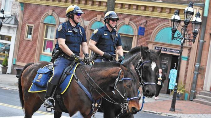Bethlehem Pa. Police Horses. Image: The Morning Call.