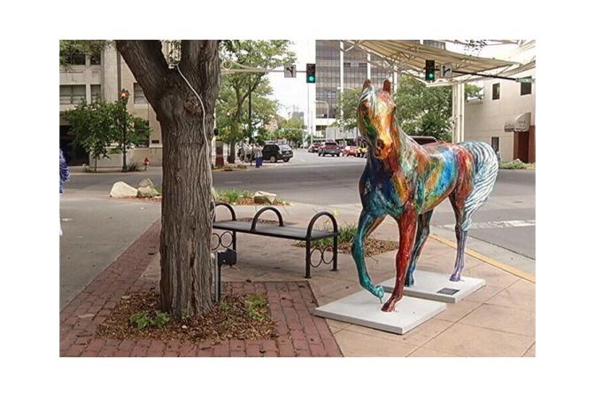 """""""Tally Ho"""" by Carol Spielman. Angel Horses, Billings MT 2015."""