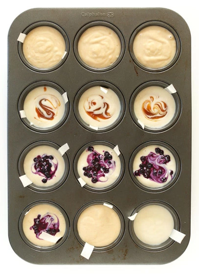 Individual no bake cheesecakes from Minimalist Baker