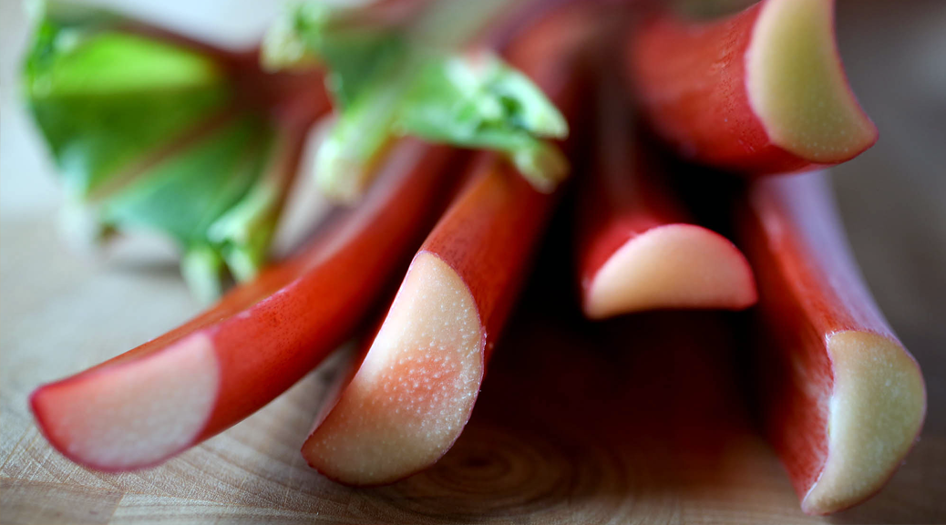 Close Up of Rhubarb Stalks. Source: NUBI. See https://www.nubimagazine.com/rhubarb-unsung-food-hero/.