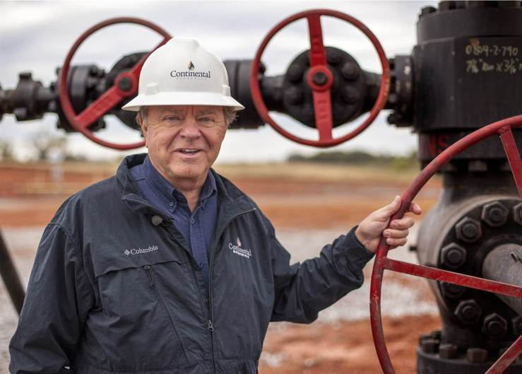 Fracking King, Harold Hamm, founder and CEO of Continental Resources, owns the rights to more oil in American ground than anyone. Image: Jim Seida / NBC News.