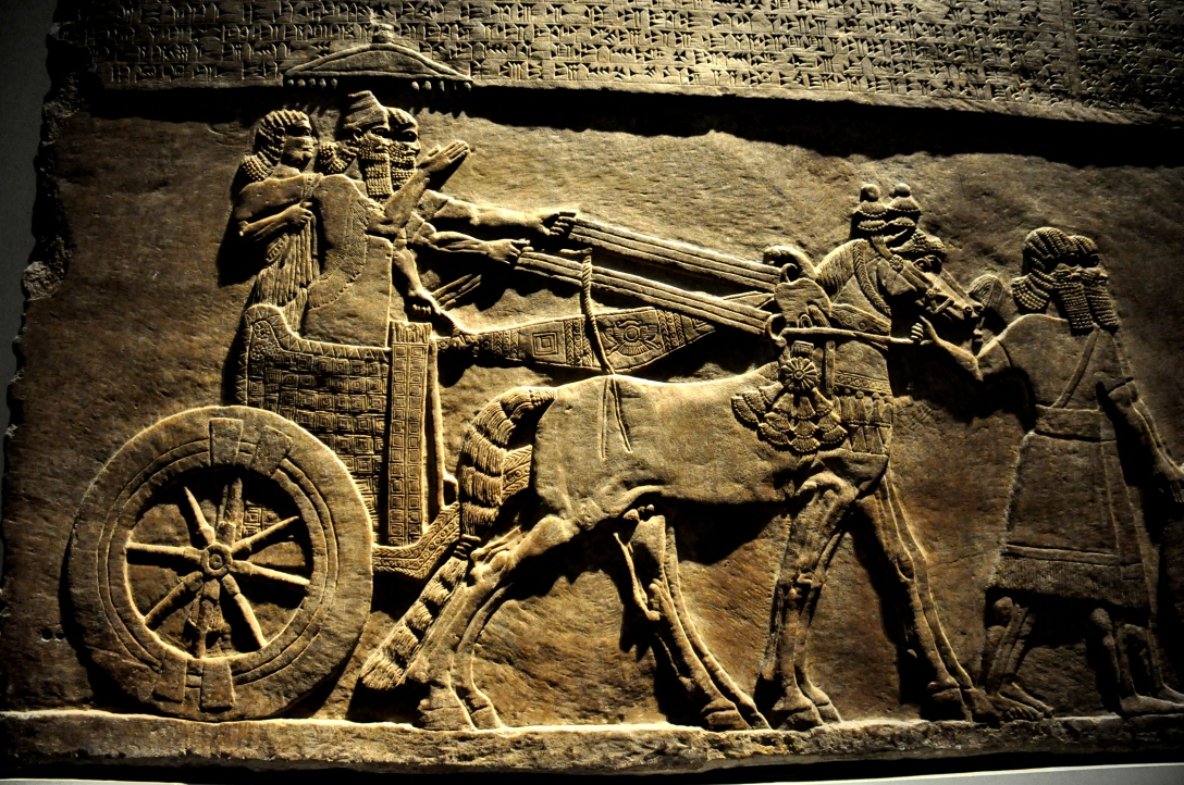 The Egyptians didn't invent the horse-drawn chariot-most historians think that the Mesopotamians were the first to build the two-wheeled carts, and it was the conquering Hyksos who brought them to Egypt around 1600 B.C. – but they were the first to make the vehicles into efficient war machines.