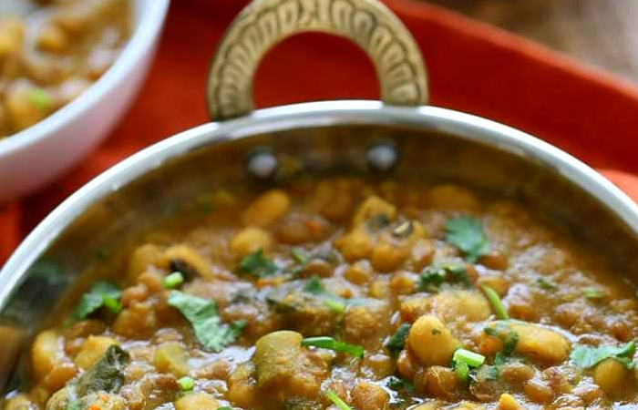 Vegan Richa's Black-Eyed Pea and Lentil Soup image.