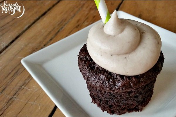 Vegan Chocolate Stout Cupcakes with Irish Cream Frosting. From One Green Planet. Click image to visit recipe at OGP>