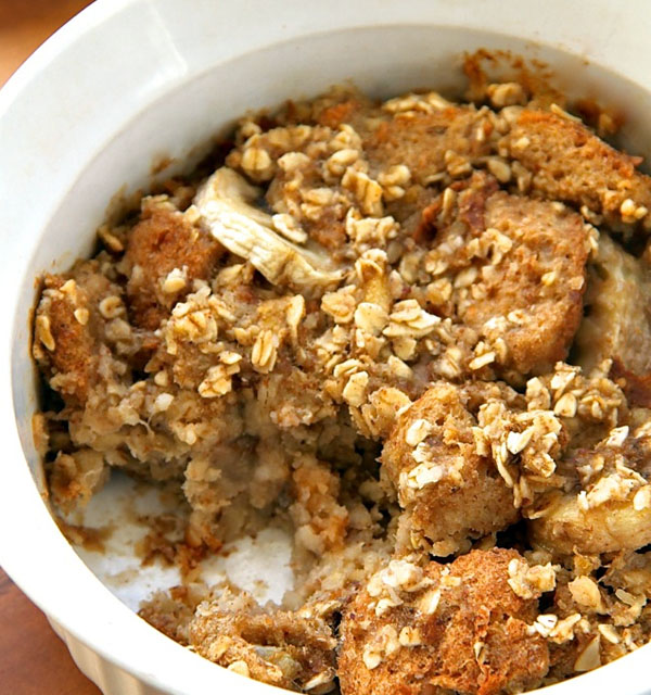 Banana Oat Baked French Toast. by Running with Spoons.