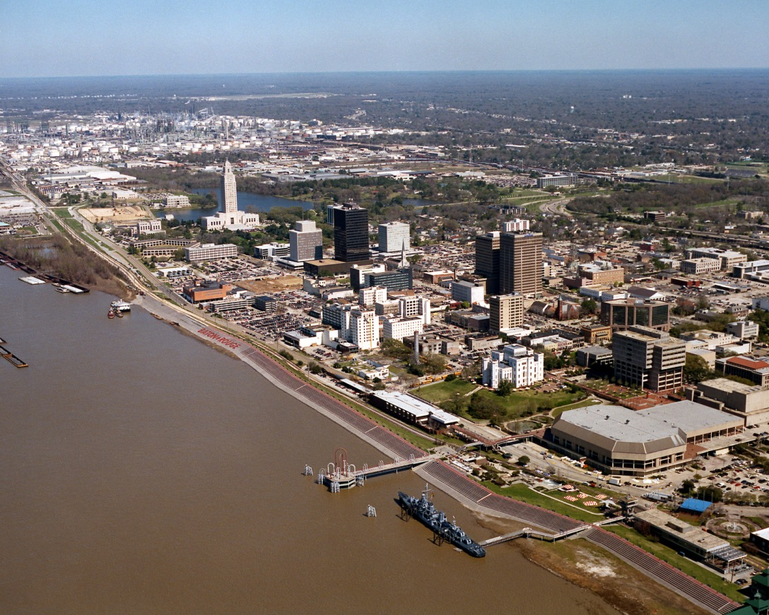 Aerial view of Baton Rouge, La.