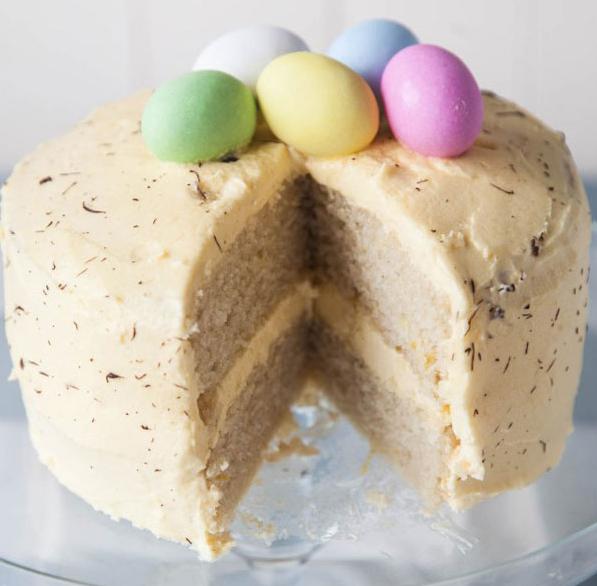 Vegan Lemon Sponge Cake from Wallflower Kitchen. Click to go there now.