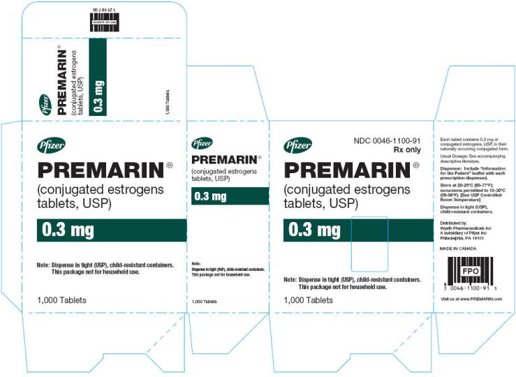 "Premarin sample package with words ""conjugated estrogens"". Google search result. Unattributed image."
