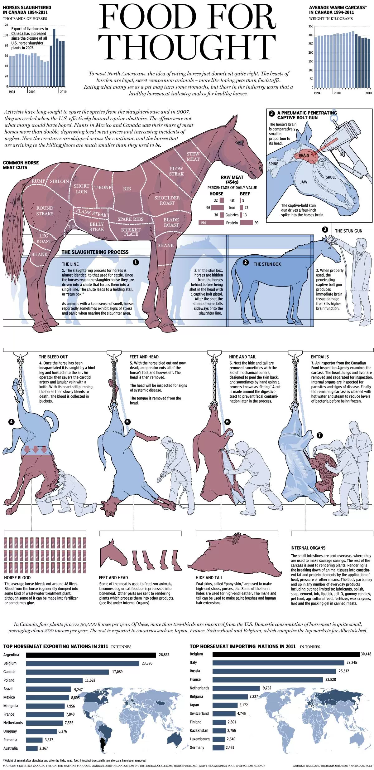 Illustrated Chart of the Horse Slaughter Process.