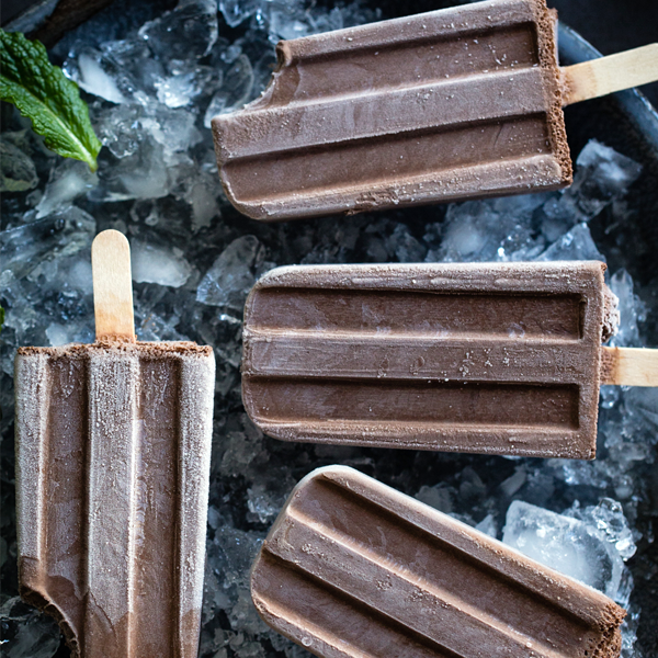 Creamy Chocolate Mint Popsicles. Vegan. Bojon Gourmet.