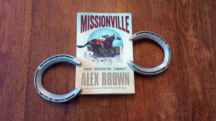 Missionville, written by Alex Brown (pictured with racing plates). By Vivian Grant Farrell.