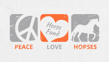 Peace Love Horses artwork. Bonfire campaign.
