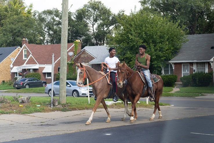 Speed Miller and friend riding around the neighborhood. NOAH ELLIOTT MORRISON.