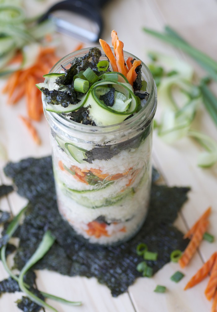 Vegan Suschi in a Jar