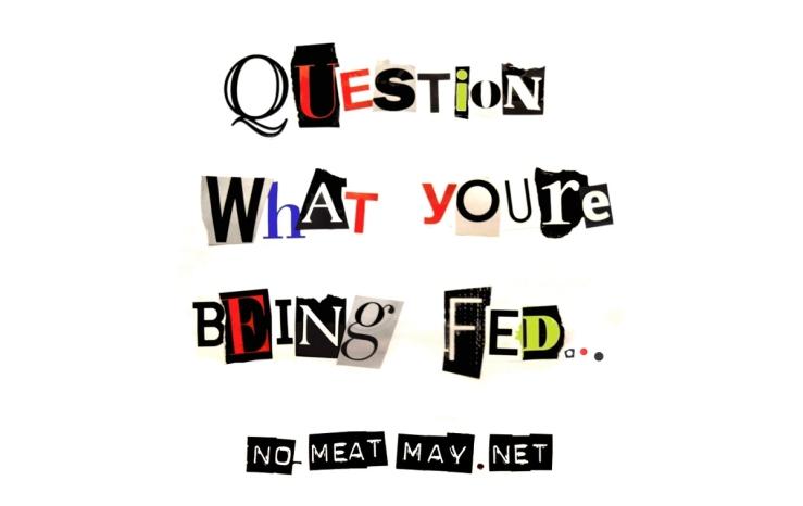 No Meat May. Artwork.