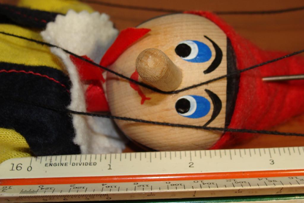 Pinocchio wooden puppet. Image source: Junkalia