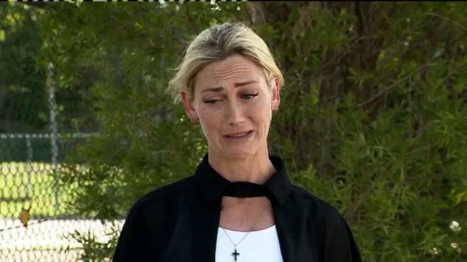 Jockey Laura Cheshire broke down in tears watching her former racehorse get beaten and brutally killed, in an ABC investigation into abattoir mass killings.