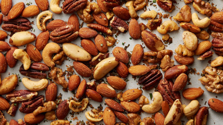 Toasting your nuts.
