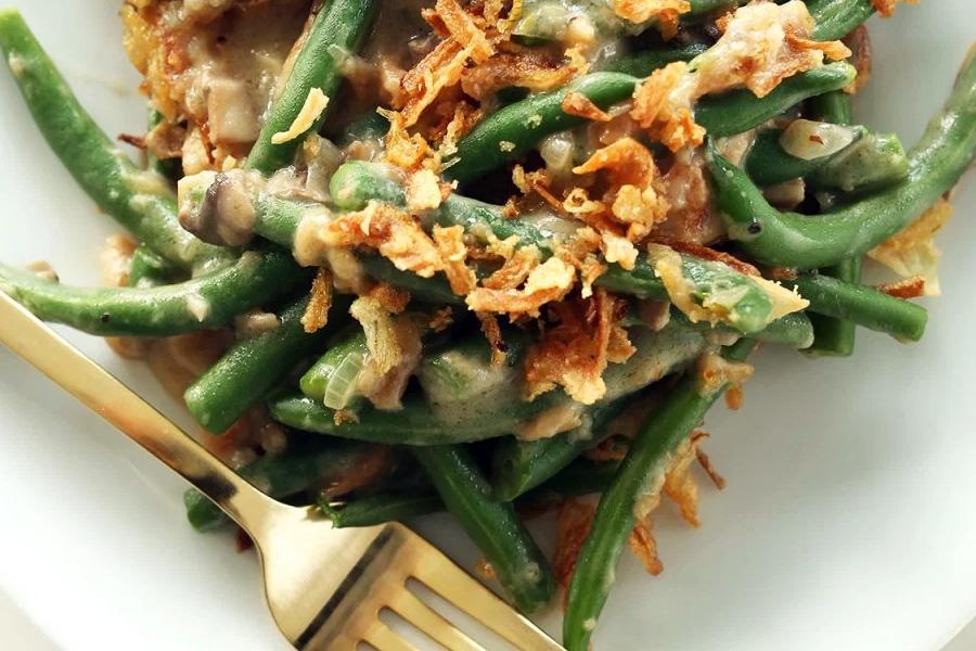 Minimalist Baker's Vegan Green Bean Casserole.