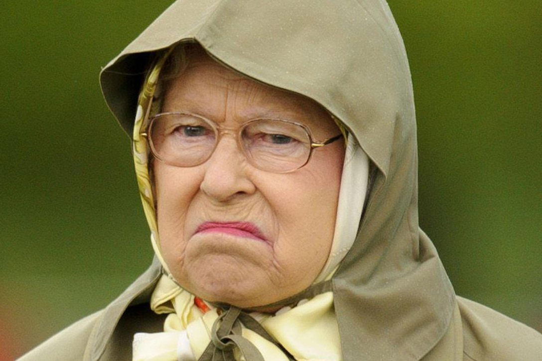 HM The Queen is not amused. Reader's Digest image.