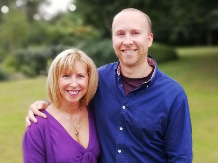 Menomagic's creator Steven Crumblehulme and Karen.