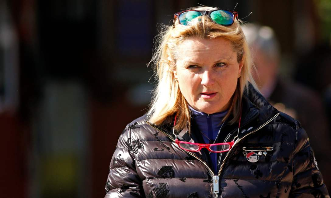 Newmarket trainer Gay Kelleway pictured at the Sales. Photograph: Steven Cargill/Racing Fotos/Rex/Shutterstock