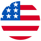 US Flag Round Icon