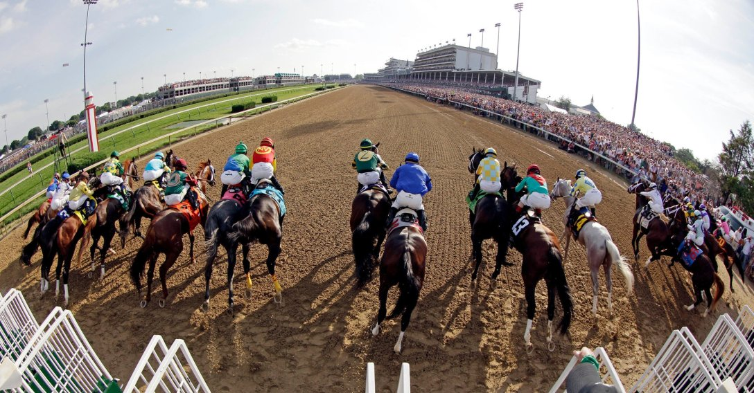 Horses break out of the starting gate at Churchill Downs in 2012. Horse owners say luck plays an outsized role in fielding a winner after all other factors are accounted for.Credit...Matt Slocum/Associated Press