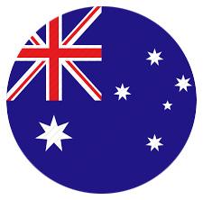 Australian Flag Circular Icon.