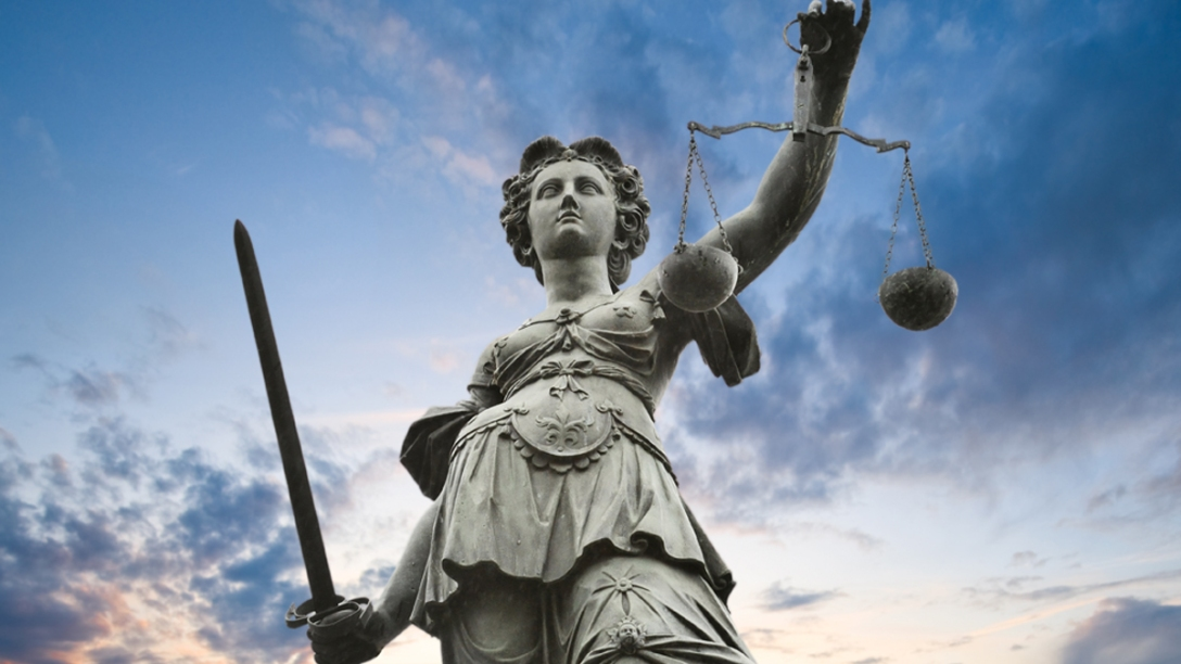 Lady Justice and blue sky. Unattributed image.