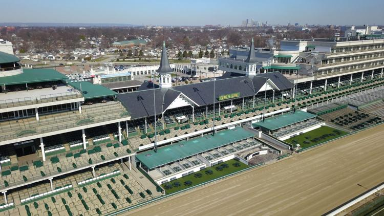 Churchill Downs Aerial Shot. WDRB.