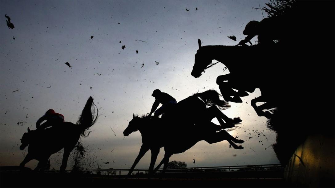 Southwell jumps racing, Nottinghamshire, England.